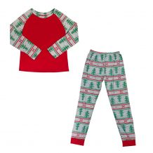 The Coral Palms� Ultra-Soft Adults 3/4 Raglan Sleeve Nordic Christmas Pajamas - CLOSEOUT