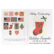 Holiday Sampler Applique Embroidery Designs by Ashley Embroidery on a Multi-Format CD-ROM ASH014 - CLOSEOUT