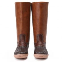 The Coral Palms� Ladies Zip Back Matte Tall Duck Boots - BROWN - CLOSEOUT