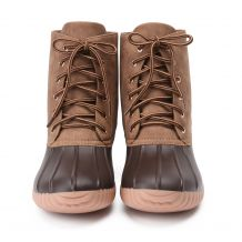 The Coral Palms� Ladies Short Matte Duck Boots - BROWN - CLOSEOUT