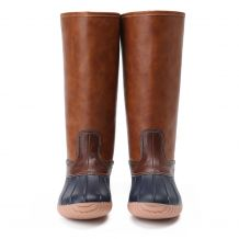 The Coral Palms� Ladies Zip Back Matte Tall Duck Boots - NAVY - CLOSEOUT