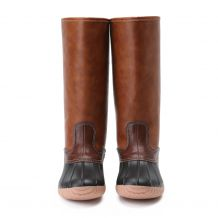 The Coral Palms� Ladies Zip Back Matte Tall Duck Boots - BLACK - CLOSEOUT