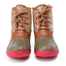 The Coral Palms� Ladies Short Matte Duck Boots - GLITTER - CLOSEOUT
