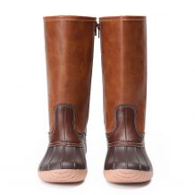 The Coral Palms� Kids Lace Back Matte Tall Duck Boots - BROWN - CLOSEOUT