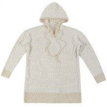 The Coral Palms� Popcorn Pullover Hoodie - CREAM - CLOSEOUT