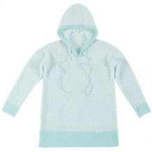 The Coral Palms� Popcorn Pullover Hoodie - MINT - CLOSEOUT