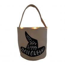 The Coral Palms� Light-Up Monogrammable Halloween Trick or Treat Bucket Tote - WITCH HAT