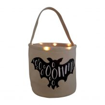 The Coral Palms� Light-Up Monogrammable Halloween Trick or Treat Bucket Tote - BAT