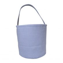 Classic Gingham Easter Bucket Tote - LIGHT BLUE - CLOSEOUT