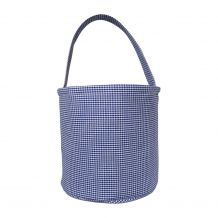 Classic Gingham Easter Bucket Tote - NAVY - CLOSEOUT