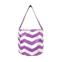 Monogrammable Easter Basket & Halloween Bucket Tote - PURPLE CHEVRON - CLOSEOUT