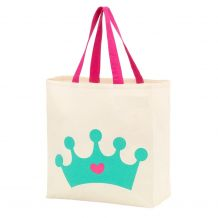 Princess Crown Canvas Halloween Treat Bag