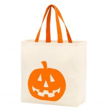 Jack-O-Lantern Canvas Halloween Treat Bag