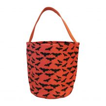 Monogrammable Halloween Bucket Tote - BATS - CLOSEOUT