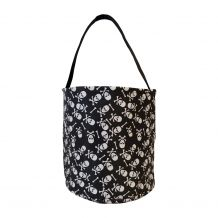 Monogrammable Halloween Bucket Tote - SKULL & CROSSBONES - CLOSEOUT