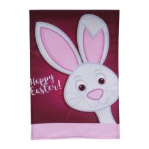 Happy Easter with Bunny Outdoor Garden Banner - CLOSEOUT