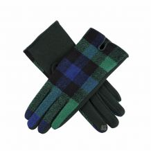 Designer-Look Touchscreen Gloves - BLUE/GREEN PLAID - CLOSEOUT