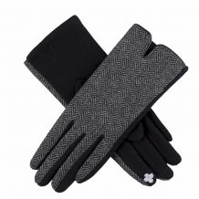 Designer-Look Touchscreen Gloves - HERRINGBONE - CLOSEOUT