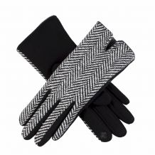 Designer-Look Touchscreen Gloves - JUMBO HERRINGBONE - CLOSEOUT