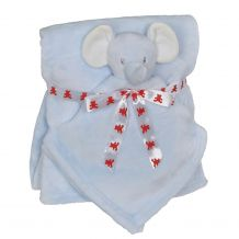 Elephant Blankey Buddy and Blanket Set - BLUE