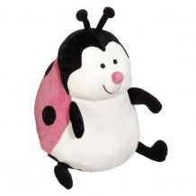 "Embroidery Buddy Stuffed Animal - Landy LadyBug 16"" - PINK"