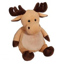 Embroidery Buddy Stuffed Animal - Mikey Moose 16""