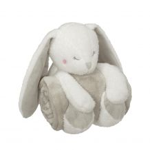 "Bunny Blankey Hugger Plush Toy and 30""x40"" Blanket Set"