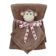 Monkey Blankey Buddy and Blanket Set