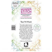 WunderStitch 2oz Tear and Wash Tearaway Embroidery Stabilizer 12in x 10yd Roll - INCLUDES 10 FREE NEEDLES