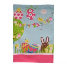 Happy Easter with Colorful Eggs Outdoor Garden Banner - CLOSEOUT