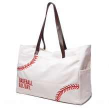 The Coral Palms� Baseball All Day Super Pouch Carryall Canvas Baseball Tote