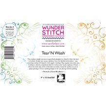 WunderStitch 2oz Tear and Wash Tearaway Embroidery Stabilizer 9in x 10yd Roll - INCLUDES 10 FREE NEEDLES