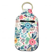Neoprene Hand Sanitizer Holder for 1.0oz/30ml Bottles - FLORAL