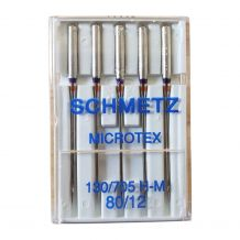 Schmetz Microtex Sharp Sewing Needles 80/12 - 5 Needle Pack