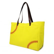 The Coral Palms� Laces Only Super Pouch Carryall Canvas Softball Tote