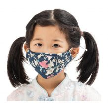 Kids 4-Layer Cotton Mask - Includes 1 Replaceable PM2.5 Filter and Adjustable Ear Straps - FLORAL