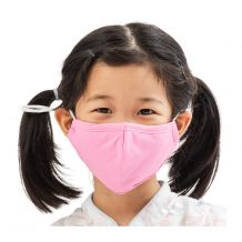 Kids 4-Layer Cotton Mask - Includes 1 Replaceable PM2.5 Filter and Adjustable Ear Straps - PINK