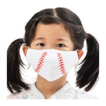 Kids 4-Layer Cotton Mask - Includes 1 Replaceable PM2.5 Filter and Adjustable Ear Straps - BASEBALL
