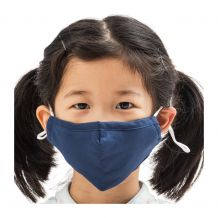 Kids 4-Layer Cotton Mask - Includes 1 Replaceable PM2.5 Filter and Adjustable Ear Straps - NAVY