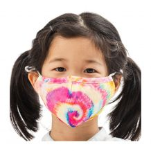 Kids 4-Layer Cotton Mask - Includes 1 Replaceable PM2.5 Filter and Adjustable Ear Straps - TIE DYE