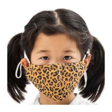Kids 4-Layer Cotton Mask - Includes 1 Replaceable PM2.5 Filter and Adjustable Ear Straps - LEOPARD