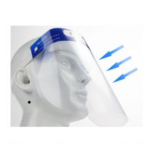 Transparent Face Shield Protection Mask with Foam Comfort Strap - Bulk 12/Pack