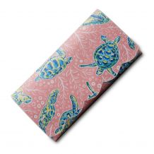 The Coral Palms® Perfect Vacay Scalloped Faux Leather Tri-Fold Wallet Embroidery Blank - Solely Sea Turtles Collection
