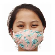 Kids 4-Layer Cotton Mask - Includes 1 Replaceable PM2.5 Filter and Adjustable Ear Straps - Solely Sea Turtles Collection