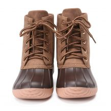 The Coral Palms® Kids Short Matte Duck Boots - BROWN