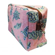 The Coral Palms® Solely Sea Turtles Cosmetic Bag