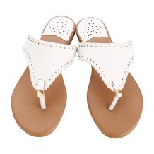 The Coral Palms� EasyStitch Celia T-Strap Sandal - WHITE - CLOSEOUT