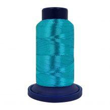 ETG33 Aqua Blue Embellish Metallic Embroidery Thread - 880yd Spool