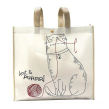 Knit And Purrrl Reusable Tote - CLOSEOUT