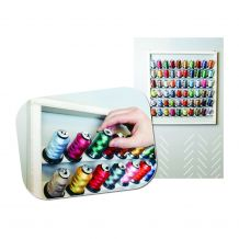"""RNK Easy Access 24""""x24"""" Wall Hanging Thread Rack"""